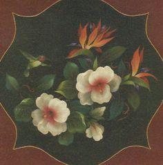 Arist Maureen McNaughton | Hibiscus, Hummingbird and Bird of Paradise #651 - Maureen McNaughton