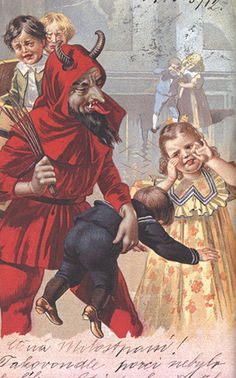 Krampus makes the children cry - your perfect greeting card.
