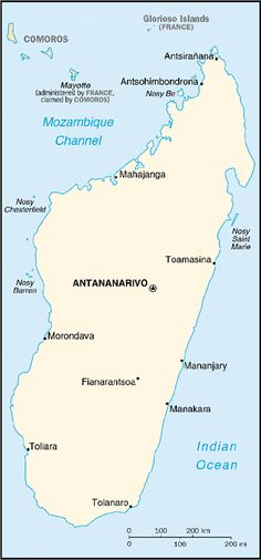 [Country map of Madagascar]