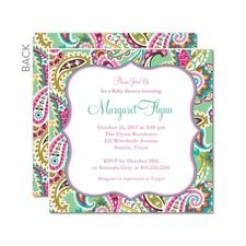 Patterned Charm Baby Shower Invitations
