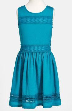 Ella+Moss+'Reagan'+Crochet+Panel+Sleeveless+Dress+(Little+Girls)+available+at+#Nordstrom