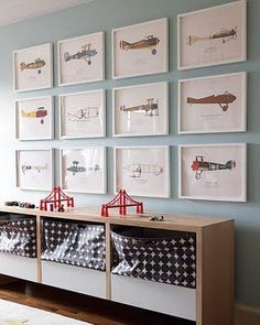 Ideas For Baby Boy Room Planes Pottery Barn Kids Pottery Barn Kids, Airplane Wall Art, Airplane Decor, Boys Airplane Bedroom, Deco Kids, Vintage Airplanes, Vintage Cars, Vintage Airplane Nursery, Antique Cars