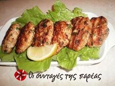 Κοτομπιφτεκάκια Tandoori Chicken, Snacks, Meat, Cooking, Breakfast, Ethnic Recipes, Food, Greek, Kitchen