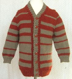 Button up your little one in this adorable easy knit cardigan pattern. The Kid's Stockinette Cardigan is an essential pattern every mother, aunt, and grandmother should have in her knitting basket. Boys Knitting Patterns Free, Baby Hats Knitting, Sweater Knitting Patterns, Knitting For Kids, Easy Knitting, Baby Patterns, Crocheting Patterns, Knit Sweaters, Boys Sweaters
