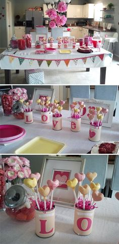 On Saturday we celebrated Adelaide's First Birthday. Since it is so close to Valentine's Day I decided to do a Love theme, and the Heart Cak...