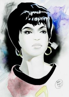 Lieutenant Uhura of Star Trek, in Shelton  Bryant's rainbow Comic Art Gallery Room - 1031563