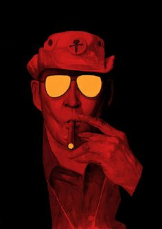 I have a theory that the truth is never told during the nine-to-five hours. Hunter S. Thompson illustrated byRaphael Salimena