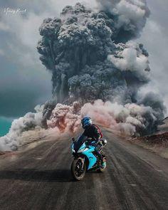 Wow What a Sick Edit!🔥🔥 Name the bike in the photo! Moto Bike, Motorcycle Bike, Women Motorcycle, Anime Motorcycle, Motorcycle Quotes, Pulsar Motos, Moto Ninja, Hornet 600, Cb 1000
