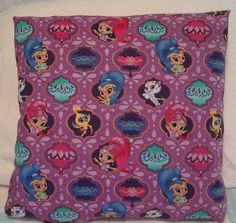Shimmer and shine throw pillow back is solid by MawmaRosesCrafts