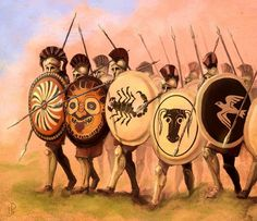Spartans at Plataea by Merlkir
