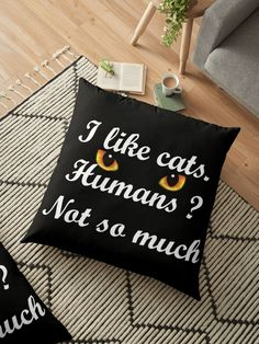For cat people only Cat People, Drink Sleeves, Throw Pillows, Cats, Toss Pillows, Gatos, Cushions, Decorative Pillows, Cat