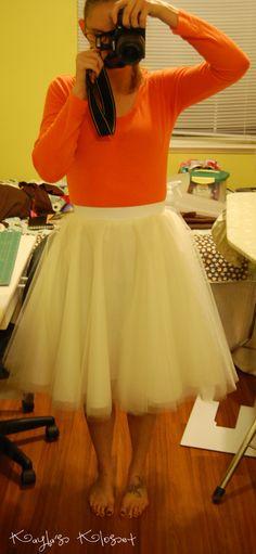 DIY tulle circle skirt