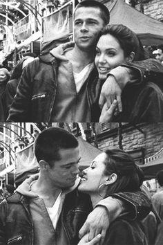 Acho lindo demais este casal. Brad Pitt e Angelina Jolie. Tumblr