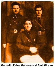Corneliu Codreanu and Emil Cioran (on the left)