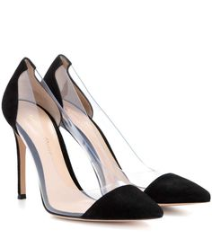 GIANVITO ROSSI Plexi Suede And Transparent Pumps. #gianvitorossi #shoes #pumps