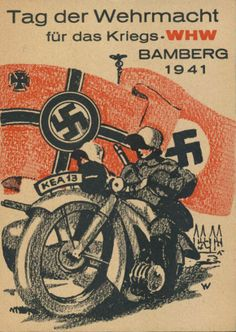 "Nazi propaganda poster ""Tag der Wehrmacht"", Bamberg, 1941."