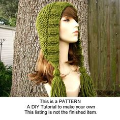 Knitting+Pattern++Knit+Hat+Knitting+Pattern+PDF+for+by+pixiebell,+$5.00