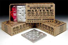 Pewter Saltine Cracker by Herbert Hoover.