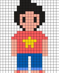 Steven -  Steven Universe Perler Bead Pattern