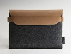 Elegant Wool Felt iPad Sleeve with Leather Flap |Gadgetsin