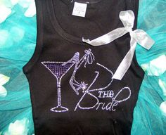Bachelorette Party Rhinestone Tank Top Tee by uniqueandtrendy