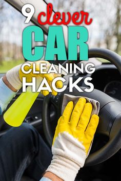 9 car cleaning hacks that will keep the interior of your car sparkling clean and organized! Easy car hacks you must try. Car Life Hacks, Car Hacks, Car Cleaning Hacks, Best Cleaning Products, Car Smell, Car Vacuum, Clean Your Car, Sparkling Clean, Upholstery Cleaner