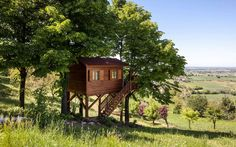 ITALY  Ends of the Earth Airbnb Rentals:  Oh, just a wooden treehouse nestled in the countryside hills of Italy, surrounded by an enormous garden, a solarium and a swimming pool. Not quite the treehouse you used to know. Where: San Salvatore Monferrato, Italy