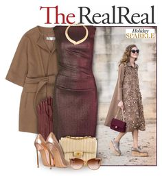 """Holiday Sparkle With The RealReal: Contest Entry"" by lily15 ❤ liked on Polyvore featuring STELLA McCARTNEY, Lanvin, Talbot Runhof, Chanel, Casadei and Yves Saint Laurent"