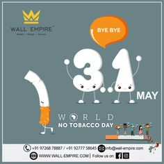 """""""Giving up smoking is the easiest thing in the world. I know because I've done it thousands of times. Creative Poster Design, Creative Posters, Social Media Banner, Social Media Design, World No Tobacco Day, Giving Up Smoking, Modern Curtains, Curtain Poles, Curtain Designs"""