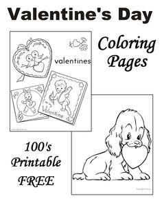 Preschool Valentine's Day Coloring Pages!