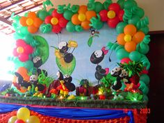decoração simples festa Smilinguido