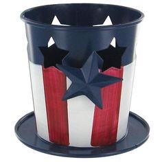 Patriotic Candle Holder $3.99