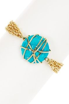 HauteLook   Cam & Zooey Blowout: Turquoise Wrapped Bracelet