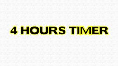 4 hours Timer Alarm Clock Countdown - YouTube