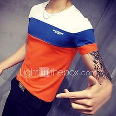 Hombre Deportes Tallas Grandes Retazos - Algodón Camiseta 20c1a02fad86b