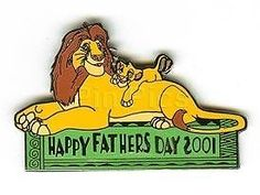 SIMBA+MUFASA LION KING FATHER'S DAY 2001 LE DLR DISNEY PIN