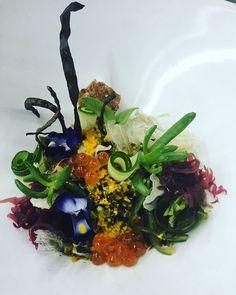 "Shun on Instagram: ""Ocean forest salad --Coral reef- . Tofu prawn Ume mousse wz Seaweed salad サンゴ礁をイメージした サラダ。  . #armaniaqua #aquatokyo #foodstarz #foodart #foodstyling #foodphotography #top_food_of_instagram #chefstalk #chef #cheflife #海#サンゴ礁#aki #foodart #foodstagram#healthy#coralreef"""