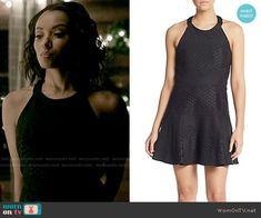 Bonnie's black halterneck dress on The Vampire Diaries. Outfit Details: https://wornontv.net/58012/ #TheVampireDiaries Buy it here: http://wornon.tv/36368