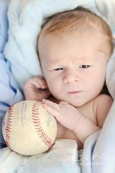 newborn pose, Charleston, SC, baseball