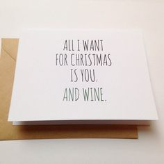 New Ideas For Funny Christmas Quotes For Cards I Want Christmas Card Sayings, Funny Holiday Cards, Christmas Ecards, Xmas Cards, Funny Mom Memes, Funny Relatable Quotes, Gifts For Wine Lovers, Wine Gifts, Messages