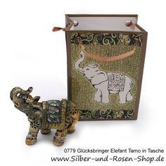 Glücksbringer Elefant Tamo in Geschenktüte