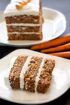 Moist Carrot Cake with a rich cream cheese frosting. #Recipe #Dessert #Cake #Carrot #Easter via @peartreechefs