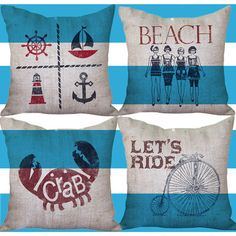 Fab.com | Down To Earth Burlap Pillows