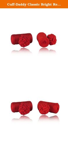 Cuff-Daddy Classic Bright Red Silk Knot Log Cufflinks With Velour Pouch. If you are one of those who prefer a lightweight feel on their cuffs yet still retain a fashionable look, check out these log style cufflinks which is an alternative to the metal designs. The bright red silk material used in creating this lightweight knot log cufflinks were imported from Asia, the only place in the world where the finest silk is produced. These and all of our silk knots ship in small black velour...