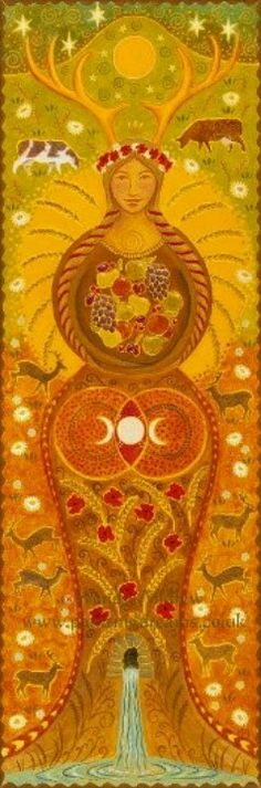 Lammas by Wendy Andrews - though it clearly looks like the antlered goddess Elen of the Ways #elenoftheways #elen #antleredgoddess