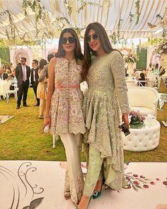 Frock style kurta, a line kurta with trousers, wedding outfit Pakistani Formal Dresses, Pakistani Wedding Outfits, Pakistani Dress Design, Pakistani Party Wear, Dress Indian Style, Indian Dresses, Indian Outfits, Eid Outfits, Designer Party Wear Dresses