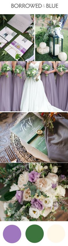 Purple and green wedding, forest green, sage, lilac, wedding design, color palette // Blue Rose Photography, Love Behind the Lens Photography, Andrew Allen Morton, Creatrix Photography