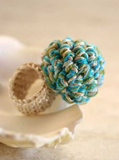 Crochet ring. $10.00, via Etsy.