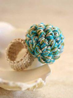 Crochet ring. $10.00, via Etsy.