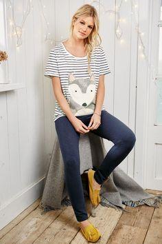 Buy Navy Fox Legging Pyjamas online today at Next: Mexico